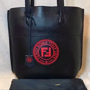 Customized FENDI Leather 'All In' Shopper Tote